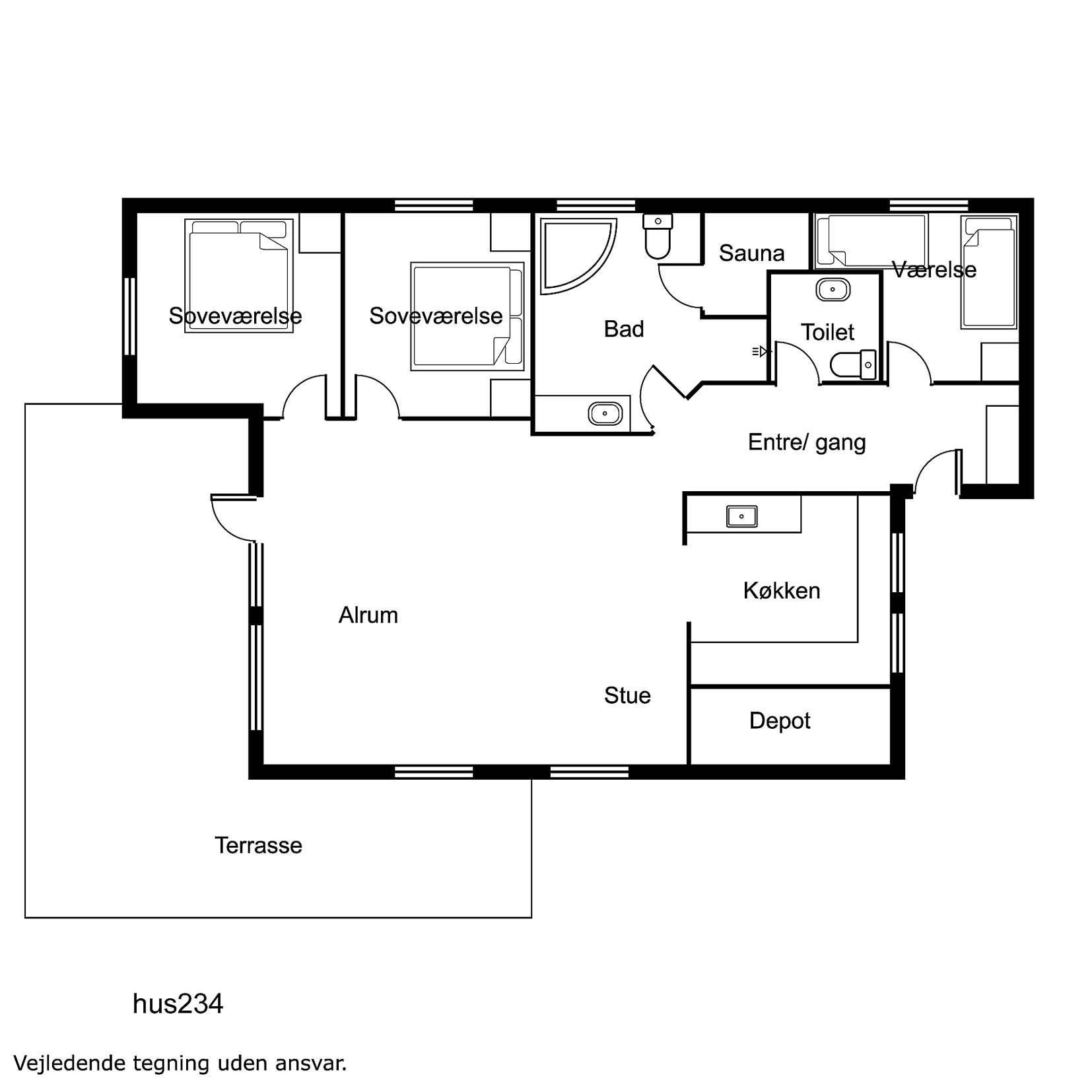 holzferienhaus vrist f r 8 personen mit sauna whirlpool und internet. Black Bedroom Furniture Sets. Home Design Ideas